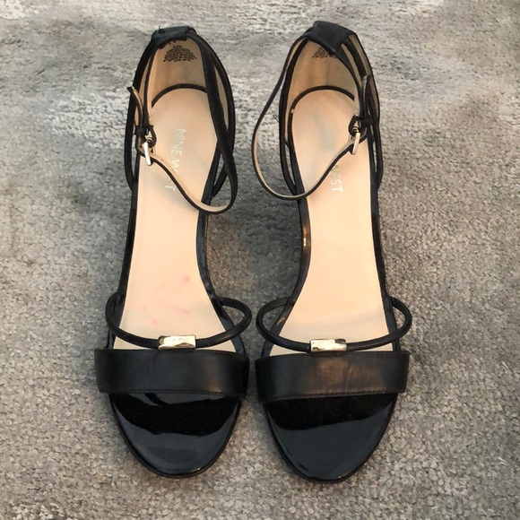 Nine West Sandals Black Wedge kwlZOPuTXi